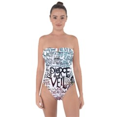 Pierce The Veil Galaxy Tie Back One Piece Swimsuit by Samandel