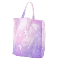 Beautiful Rose, Soft Violet Colors Giant Grocery Zipper Tote by FantasyWorld7