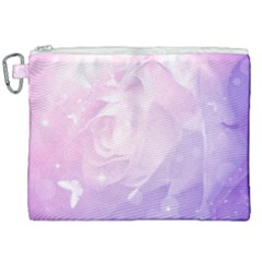 Beautiful Rose, Soft Violet Colors Canvas Cosmetic Bag (xxl) by FantasyWorld7