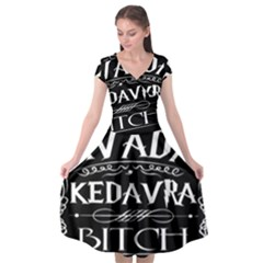 Avada Kedavra Bitch Cap Sleeve Wrap Front Dress