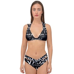 Avada Kedavra Bitch Double Strap Halter Bikini Set