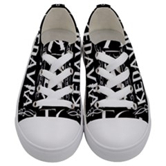 Avada Kedavra Bitch Kids  Low Top Canvas Sneakers