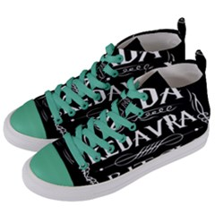 Avada Kedavra Bitch Women s Mid Top Canvas Sneakers by Samandel
