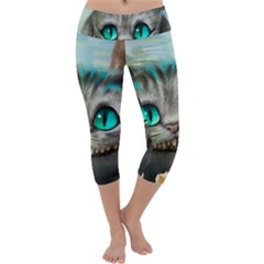 Cheshire Cat Capri Yoga Leggings