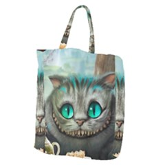 Cheshire Cat Giant Grocery Zipper Tote by Samandel
