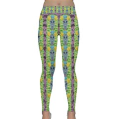 Decorative Summer Girls With Flower Hair Classic Yoga Leggings by pepitasart