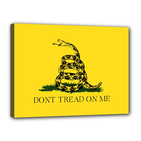 Gadsden Flag Don t Tread On Me Canvas 16  X 12