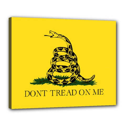 Gadsden Flag Don t Tread On Me Canvas 20  X 16  by MAGA