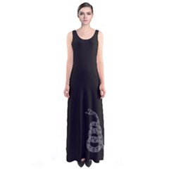 Gadsden Flag Don t Tread On Me Sleeveless Maxi Dress