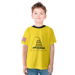 Gadsden Flag Don t Tread On Me Kids  Cotton Tee by MAGA