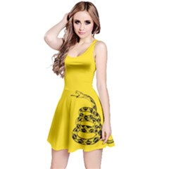 Gadsden Flag Don t Tread On Me Reversible Sleeveless Dress by MAGA