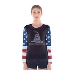 Gadsden Flag Don t Tread On Me Women s Long Sleeve Tee by snek