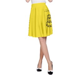 Gadsden Flag Don t Tread On Me A Line Skirt by snek