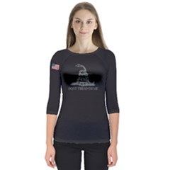 Gadsden Flag Don t Tread On Me Quarter Sleeve Raglan Tee by snek