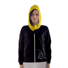 Gadsden Flag Don t Tread On Me Hooded Wind Breaker (women)