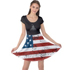 Gadsden Flag Don t Tread On Me Cap Sleeve Dress by snek
