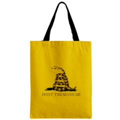 Gadsden Flag Don t Tread On Me Zipper Classic Tote Bag by MAGA