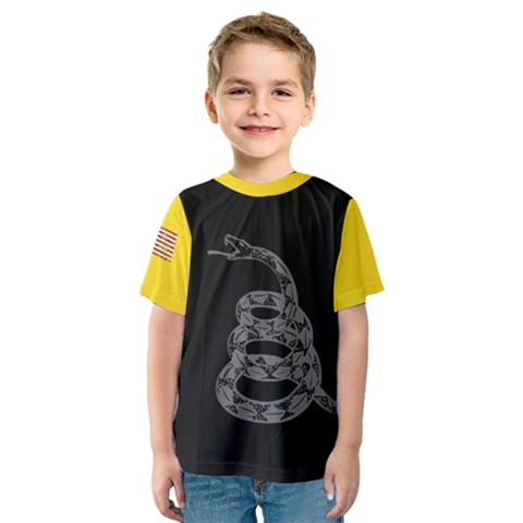 Gadsden Flag Don t Tread On Me Kids  Sport Mesh Tee by snek