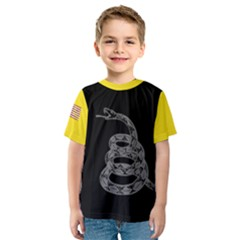 Gadsden Flag Don t Tread On Me Kids  Sport Mesh Tee by MAGA