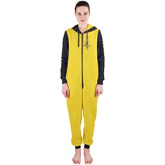 Gadsden Flag Don t Tread On Me Hooded Jumpsuit (ladies)  by MAGA