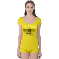 Gadsden Flag Don t Tread On Me Boyleg Leotard  by snek