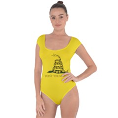Gadsden Flag Don t Tread On Me Short Sleeve Leotard  by snek