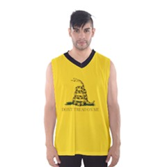 Gadsden Flag Don t Tread On Me Men s Basketball Tank Top by MAGA