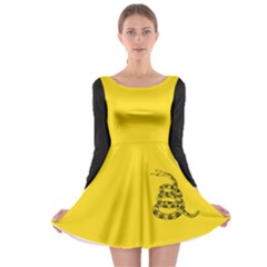 Gadsden Flag Don t Tread On Me Long Sleeve Skater Dress by snek