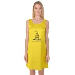 Gadsden Flag Don t Tread On Me Sleeveless Satin Nightdress by snek