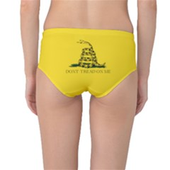 Gadsden Flag Don t Tread On Me Mid Waist Bikini Bottoms by snek