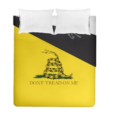 Gadsden Flag Don t Tread On Me Duvet Cover Double Side (full/ Double Size) by snek