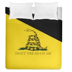 Gadsden Flag Don t Tread On Me Duvet Cover Double Side (queen Size) by snek