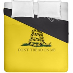 Gadsden Flag Don t Tread On Me Duvet Cover Double Side (king Size) by snek