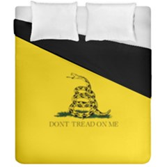 Gadsden Flag Don t Tread On Me Duvet Cover Double Side (california King Size) by snek
