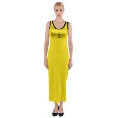 Gadsden Flag Don t Tread On Me Fitted Maxi Dress
