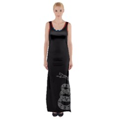 Gadsden Flag Don t Tread On Me Maxi Thigh Split Dress by snek