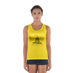 Gadsden Flag Don t Tread On Me Sport Tank Top  by MAGA