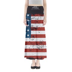 Gadsden Flag Don t Tread On Me Full Length Maxi Skirt by MAGA
