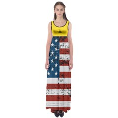 Gadsden Flag Don t Tread On Me Empire Waist Maxi Dress by snek