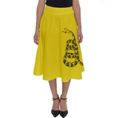 Gadsden Flag Don t Tread On Me Perfect Length Midi Skirt by snek