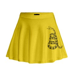 Gadsden Flag Don t Tread On Me Mini Flare Skirt by snek