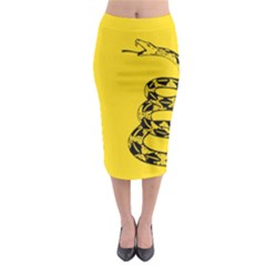 Gadsden Flag Don t Tread On Me Midi Pencil Skirt by snek
