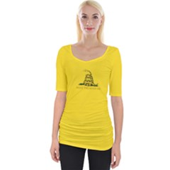 Gadsden Flag Don t Tread On Me Wide Neckline Tee by snek