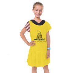 Gadsden Flag Don t Tread On Me Kids  Drop Waist Dress by snek