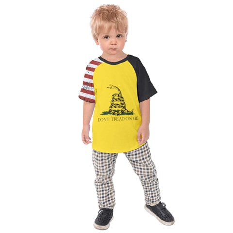 Gadsden Flag Don t Tread On Me Kids Raglan Tee by snek