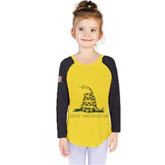 Gadsden Flag Don t Tread On Me Kids  Long Sleeve Tee by snek