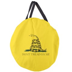 Gadsden Flag Don t Tread On Me Giant Round Zipper Tote by MAGA