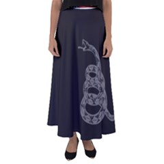 Gadsden Flag Don t Tread On Me Flared Maxi Skirt by snek