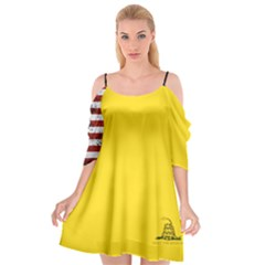 Gadsden Flag Don t Tread On Me Cutout Spaghetti Strap Chiffon Dress by snek