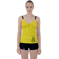 Gadsden Flag Don t Tread On Me Tie Front Two Piece Tankini by snek